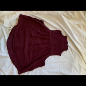 Burgundy halter style blouse 👚